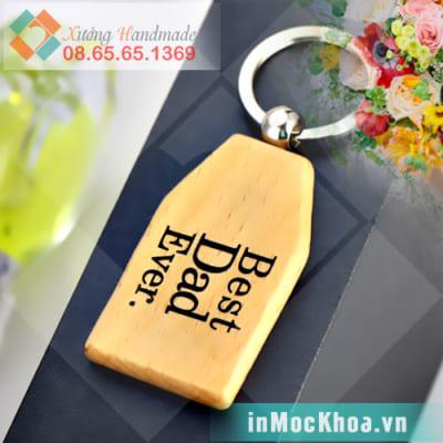 Móc khóa bằng gỗ