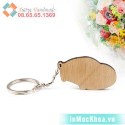 Móc khóa gỗ